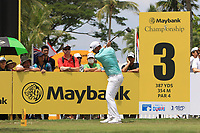 Bernd Wiesberger (AUT) in action on the 3rd tee during Round 1 of the Maybank Championship at the Saujana Golf and Country Club in Kuala Lumpur on Thursday 1st February 2018.<br /> Picture:  Thos Caffrey / www.golffile.ie<br /> <br /> All photo usage must carry mandatory copyright credit (&copy; Golffile | Thos Caffrey)