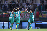 (L-R) <br /> Tomoko Muramatsu, <br /> Azusa Iwashimizu, <br /> Risa Shimizu (Beleza), <br /> SEPTEMBER 3, 2016 - Football / Soccer : <br /> Plenus Nadeshiko League Cup 2016 Division 1 Final match <br /> between NTV Beleza 4-0 Jef Chiba Ladies <br /> at Ajinomoto Field Nishigaoka in Tokyo, Japan. <br /> (Photo by AFLO SPORT)