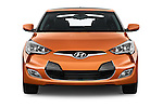 Car photography straight front view of a 2016 Hyundai Veloster 1.6-Manual 4 Door Hatchback Front View