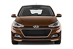 Car photography straight front view of a 2015 Hyundai I20 Intro Edition 5 Door Hatchback Front View