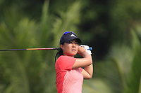 Danielle Kang (USA) in action on the 2nd during Round 3 of the HSBC Womens Champions 2018 at Sentosa Golf Club on the Saturday 3rd March 2018.<br /> Picture:  Thos Caffrey / www.golffile.ie<br /> <br /> All photo usage must carry mandatory copyright credit (&copy; Golffile | Thos Caffrey)