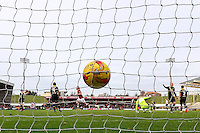 James Collins of Northampton Town (not shown) scores the opening goal against Morecambe during the Sky Bet League 2 match between Northampton Town and Morecambe at Sixfields Stadium, Northampton, England on 23 January 2016. Photo by David Horn / PRiME Media Images.