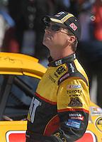 Mar 30, 2007; Martinsville, VA, USA; Nascar Nextel Cup Series driver Dave Blaney (22) during qualifying for the Goody's Cool Orange 500 at Martinsville Speedway. Martinsville marks the second race for the new car of tomorrow. Mandatory Credit: Mark J. Rebilas