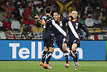 12 JUN 2010:  Clint Dempsey (USA)(8) celebrates his game tying goal.  The England National Team played the United States National Team played to a 1-1 tie at Royal Bafokeng Stadium in Rustenburg, South Africa in a 2010 FIFA World Cup Group C match.