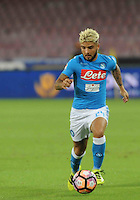 Lorenzo Insigne  during the  italian serie a soccer match,between SSC Napoli and AC Chievo       at  the San  Paolo   stadium in Naples  Italy , September 25, 2016
