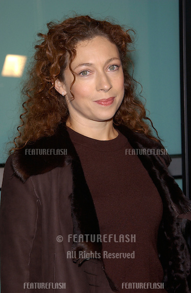 Actress ALEX KINGSTON at the Los Angeles premiere of The Lord of the Rings: The Two Towers..15DEC2002.   © Paul Smith/Featureflash