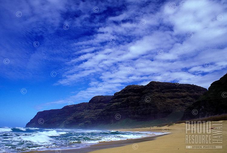Polihale beach, far west end of Island of Kauai