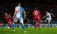 Blackburn Rovers' Stewart Downing (right) shoots at goal <br /> <br /> Photographer Andrew Kearns/CameraSport<br /> <br /> The EFL Sky Bet Championship - Blackburn Rovers v Nottingham Forest - Tuesday 1st October 2019  - Ewood Park - Blackburn<br /> <br /> World Copyright © 2019 CameraSport. All rights reserved. 43 Linden Ave. Countesthorpe. Leicester. England. LE8 5PG - Tel: +44 (0) 116 277 4147 - admin@camerasport.com - www.camerasport.com