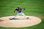 Washington Nationals right-handed pitcher Edwin Jackson (33) throws during a game against the Miami Marlins at Nationals Park in Washington, DC on September 9, 2012.