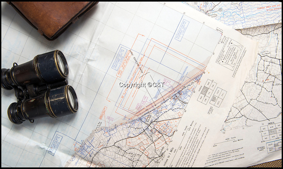 BNPS.co.uk (01202 558833)<br /> Pic: C&T/BNPS<br /> <br /> Omaha beach in the American sector - where most of the casualties on D-Day occured.<br /> <br /> The most up-to-date maps for the D-Day invasion have come to light 72 years later to show the incredible detail the Allies went to to ensure victory.<br /> <br /> The 24 original maps were drawn up just two weeks before the momentous operation and gave the military commanders the most contemporary reports of the state of the five Normandy beaches.<br /> <br /> The charts, marked 'Top Secret', were so detailed they contained almost the exact number and positions of mines, pill boxes and other defence works the Germans had laid as part of Hitler's Atlantic Wall.<br /> <br /> They are being sold in eight separate lots by C&T Auctioneers of Ashford, Kent, on September 7.
