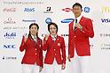 (L-R) Saori Yoshida,  Seiko Hashimoto,  Keisuke Ushiro, July 3, 2016 - <br /> Olympic : Japan National team held a press conference for Rio de Janeiro <br /> Olympic Games at Yoyogi Gymnasium, Tokyo, Japan. <br /> (Photo by Yusuke Nakanishi/AFLO SPORT)