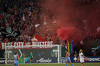Portland, Oregon - Wednesday September 7, 2016: Thorns supporters during a regular season National Women's Soccer League (NWSL) match at Providence Park.