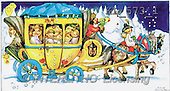 Interlitho, CHRISTMAS SANTA, SNOWMAN, nostalgic, paintings, angels, coach(KL573/1,#X#) Weihnachten, nostalgisch, Navidad, nostálgico, illustrations, pinturas
