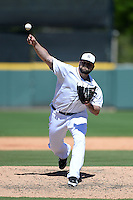 Detroit Tigers pitcher Joba Chamberlain (44) during a spring training game against the Miami Marlins on March 13, 2014 at Joker Marchant Stadium in Lakeland, Florida.  Miami defeated Detroit 4-2.  (Mike Janes/Four Seam Images)