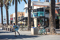 Skateboarding in Downtown Hermosa Beach
