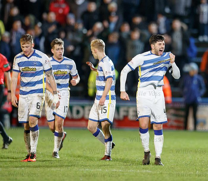 Thomas O'Ware celebrates his goal