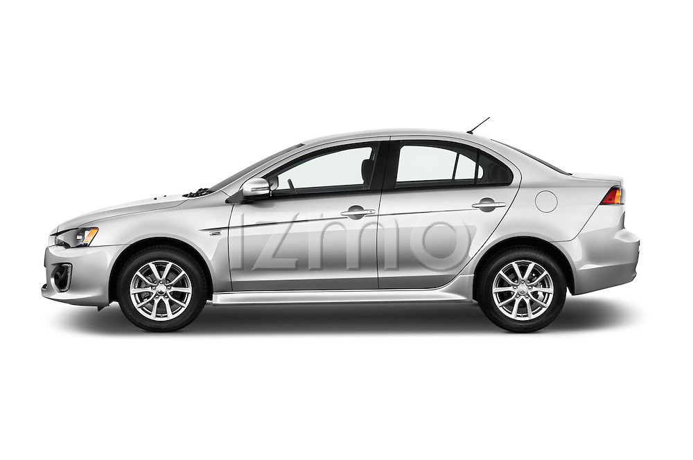 Car Driver side profile view of a 2016 Mitsubishi Lancer ES-CVT 4 Door Sedan Side View
