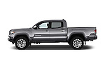 Car Driver side profile view of a 2016 Toyota Tacoma Limited 4 Door Pickup Side View