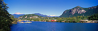 Squamish, BC, British Columbia, Canada - Mamquam Blind Channel and Coast Mountains, Summer - Panoramic View