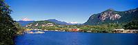Squamish, BC, British Columbia, Canada - Mamquam Blind Channel and Coast Mountains, Summer - Panoramic View