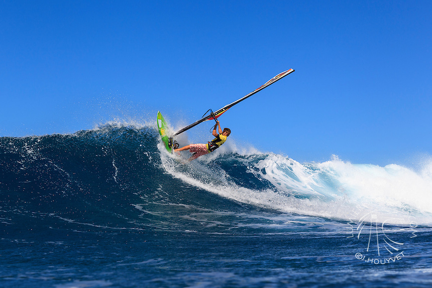 Camille Juban at the 6th and final stop of the 2012 American Windsurfing Tour (AWT), in Ho'okipa Beach Park (Maui, Hawaii, USA)