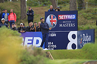 Andrea Pavan (ITA) on the 8th tee during Round 2 of the Betfred British Masters 2019 at Hillside Golf Club, Southport, Lancashire, England. 10/05/19<br /> <br /> Picture: Thos Caffrey / Golffile<br /> <br /> All photos usage must carry mandatory copyright credit (&copy; Golffile | Thos Caffrey)