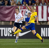 Heather O'Reilly, Nilla Fischer. The USWNT defeated Sweden, 3-0.