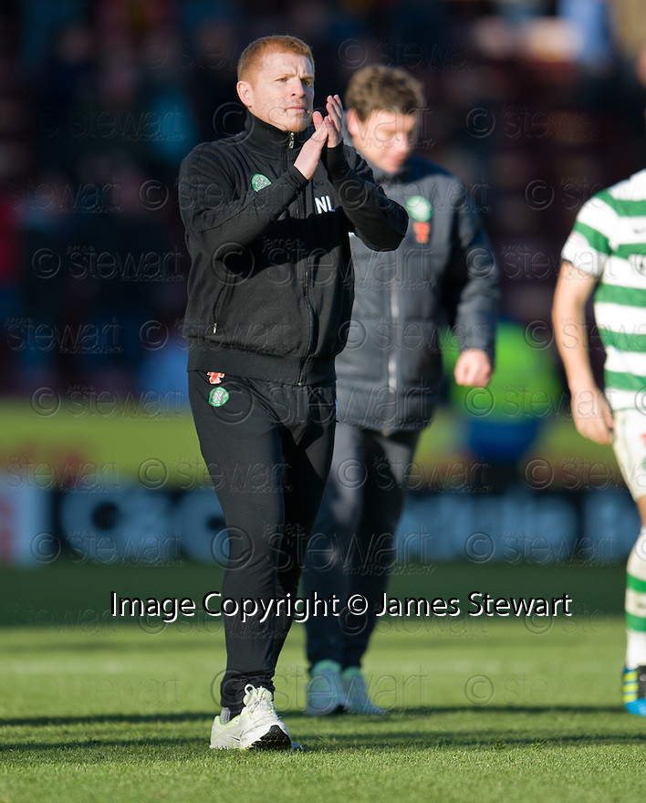 CELTIC MANAGER NEIL LENNON AT THE END OF THE GAME.