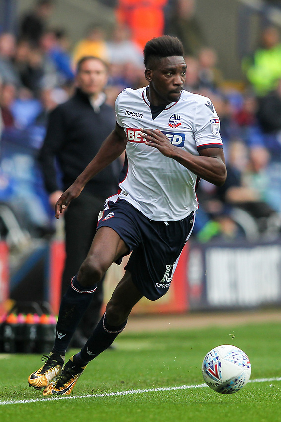 Bolton Wanderers'  Sammy Ameobi<br /> <br /> Photographer Andrew Kearns/CameraSport<br /> <br /> The EFL Sky Bet Championship - Bolton Wanderers v Sheffield Wednesday - Saturday 14th October 2017 - Macron Stadium - Bolton<br /> <br /> World Copyright &copy; 2017 CameraSport. All rights reserved. 43 Linden Ave. Countesthorpe. Leicester. England. LE8 5PG - Tel: +44 (0) 116 277 4147 - admin@camerasport.com - www.camerasport.com