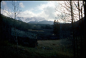 Abandoned cabin along old RGS line in San Juan Mountains.<br /> RGS  RGS Country, CO  Taken by Dorman, Richard L. - ca. 1970-1979