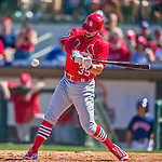 4 March 2016: St. Louis Cardinals infielder Greg Garcia in action during a Spring Training pre-season game against the Houston Astros at Osceola County Stadium in Kissimmee, Florida. The Cardinals fell to the Astros 6-3 in Grapefruit League play. Mandatory Credit: Ed Wolfstein Photo *** RAW (NEF) Image File Available ***