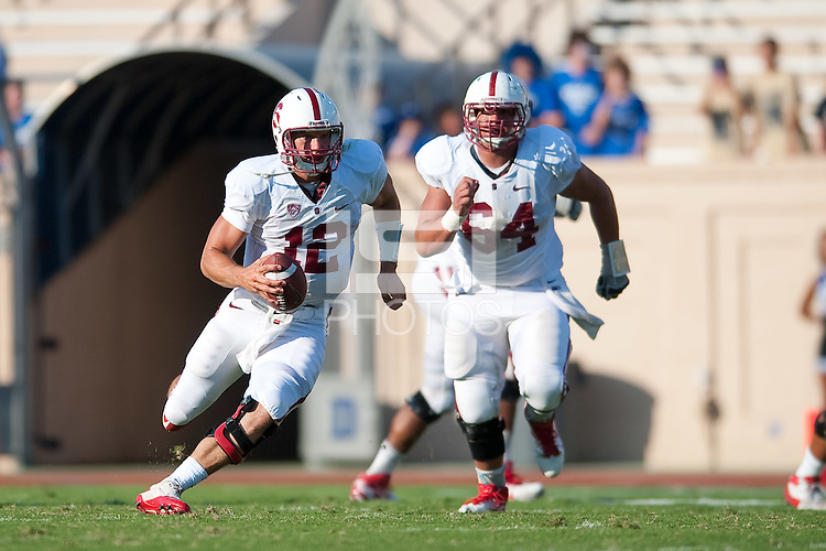 STANFORD, CA - SEPTEMBER 10: Stanford defeats Duke 44-14  at Wallace Wade Stadium on the Duke University Campus, Saturday, September 10, 2011 in Durham, North Carolina.