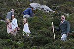 Queen Letizia of Spain, King Felipe VI of Spain, Princess Sofia of Spain and Princess Leonor of Spain visit the Enol lake in Asturias, Spain. September 08, 2018. (ALTERPHOTOS/A. Perez Meca)