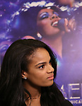"Storm Lever attends the press Meet & Greet  for ""Summer: The Donna Summer Musical"" on March 8, 2018 at the New 42nd Street Studios,  in New York City."