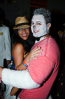 Guests attend Nightmare on the Beach 2013 Halloween party at Villa Vecchia, Miami Beach, Florida, on October 26, 2013