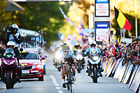 Picture by Simon Wilkinson/SWpix.com - 27/09/2018 - Cycling 2018 Road Cycling World Championships Innsbruck-Tiriol, Austria - Men's Junior Road Race - Remco Evenepoel of Belgium.