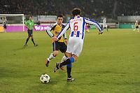 VOETBAL: SC HEERENVEEN: Abe Lenstra Stadion, 17-02-2012, SC-Heerenveen-NAC, Eredivisie, Eindstand 1-0, Geert Arend Roorda (6), Ömer Bayram, ©foto: Martin de Jong