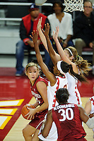 LOS ANGELES, CA - December 29, 2011:  Stanford's Joslyn Tinkle during play against the USC Trojans at the Galen Center.   Stanford defeated USC, 61 - 53.