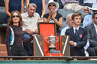 Isabelle Huppert come to present the Suzanne Lenglen Cup during Day 14 of the French Open 2018 on June 9, 2018 in Paris, France. (Photo by Baptiste Fernandez/Icon Sport)