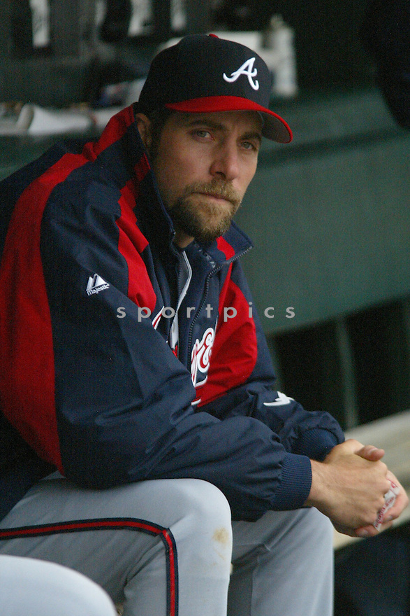 John Smoltz of the Atlanta Braves, in action against the Giants on April 9, 2006...Giants win 6-5..Rob Holt / SportPics