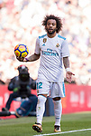 Marcelo Vieira Da Silva of Real Madrid reacts during the La Liga 2017-18 match between Real Madrid and FC Barcelona at Santiago Bernabeu Stadium on December 23 2017 in Madrid, Spain. Photo by Diego Gonzalez / Power Sport Images