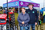 Draw a Tractor<br /> --------------------<br /> Dan&amp;Marie O'Sullivan from killarney, selling raffle tickets for the vintage tractor, totally restored by Killarney Valley Classic Vintage club, at the National Ploughing Championships in Tullamore, for Downsyndrome kerry last Tuesday.
