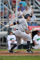 Staten Island Yankees third baseman Garrison Lassiter during a game vs. the Jamestown Jammers at Russell Diethrick Park in Jamestown Jammers, New York July 15, 2010.   Jamestown defeated Staten Island 5-1.  Photo By Mike Janes/Four Seam Images