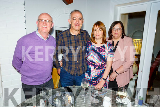 John and Dympna O'Carroll from Listowel celebrating their wedding anniversary.<br /> L to r: Sean Brosnan, John and Dympna O'Carroll and Marie Brosnan.