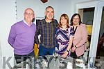 John and Dympna O'Carroll from Listowel celebrating their wedding anniversary.<br /> L to r: Sean Brosnan, John and Dympna O'Carroll and Marie Brosnan.