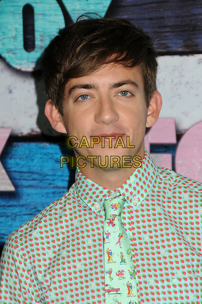 Kevin McHale.Fox All-Star Party - Summer 2012 held at Private Location, West Hollywood, California, USA..July 23rd, 2012.headshot portrait green red polka dot shirt print tie .CAP/ADM/BP.©Byron Purvis/AdMedia/Capital Pictures.
