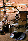 Ouro Verde, Xingu, Brazil. Garimpo illegal gold mine; Omo detergent used to help separate the gold from the ore.
