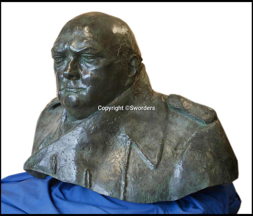 BNPS.co.uk (01202 558833)<br /> Pic: Sworders/BNPS<br /> <br /> This one tonne bronze bust modelled from an iconic statue of Winston Churchill would be quite the conversation piece - but would dominate most living rooms. <br /> <br /> The monumental mould captures the man voted the greatest ever Britain at his most defiant and stands nearly three feet tall, and is so large it takes four people to move it. <br /> <br /> It is one of only six authorised duplicates of the iconic Parliament Square sculpture of the wartime Prime Minister that will ever be made - with bidders from across the world set to fight it out for the  four feet wide piece.