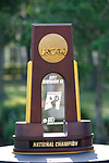 HOUSTON, TX - MAY 12: The Division III Women's Golf National Championship Trophy on display during the Division III Women's Golf Championship held at Bay Oaks Country Club on May 12, 2017 in Houston, Texas. (Photo by Rudy Gonzalez/NCAA Photos/NCAA Photos via Getty Images)