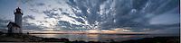 lighthouse panorama sunset, Annisquam, Cape Ann, MA